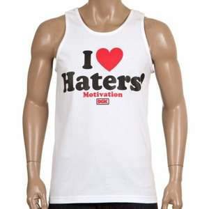 DGK Haters With Motivation Vest Tank White @ Rollersnakes (delivery £3)