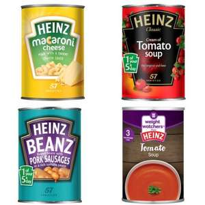 ASDA - Heinz Soup 50p, Heinz Beans And Sausages 50p, Heinz Beans 50p, Heinz Macaroni 50p, Heinz Spaghetti 50p, Heinz Beef Ravioli 50p, Weight Watchers from Heinz 50p