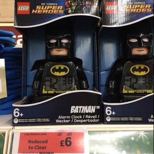 Lego Batman Alarm Clock (was £15) £6 @ Sainsbury's instore