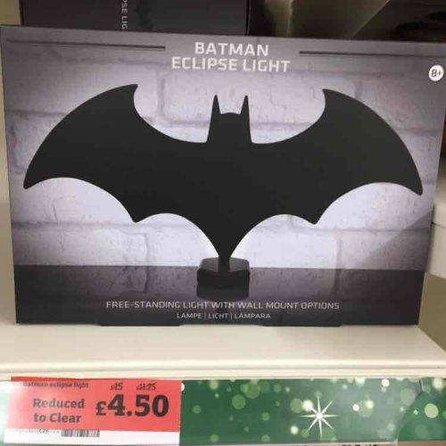 Batman Eclipse Wall/Desk Light (was £15) - £4.50 @ Sainsbury's instore
