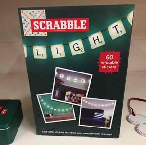 Scrabble Wall Hanging Lights (was £20) £6 @ Sainsbury's instore