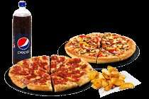 Pizza Hut Deal - 2 Large Pizzas, Garlic Bread or Wedges and 1.5l Bottle of Drink