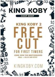 Free Haircuts for men in Leeds at King Coby Chop Shop until end Jan