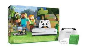 Xbox One S Minecraft Bundle (500gb) £219 @ Microsoft store less £32 Quidco and possible £30 Amex