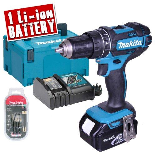 Makita DHP482SE Makita 18v Li-ion Hammer Drill Driver Kit £119.99 @ ITS