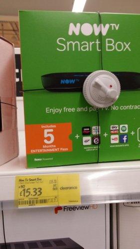 Now TV Smart Box £15.33 Instore @ Asda Living