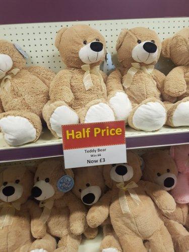 Teddy Bear, half price in Hobbycraft. Westwood Cross now £3