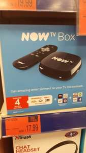 Now TV box with 4 months kids pass £17.99 @ B&M