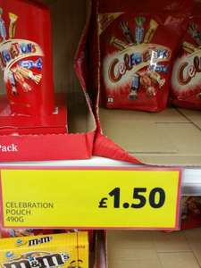 Celebration pouch 490g for £1.50 at tesco