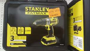 Stanley fatmax 18v 2.0ah drill 2 battery FMC625D2 reduced to £59.93 in homebase harrow