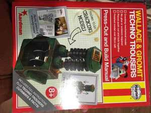 Wallace & Gromit techno trousers Haynes manual (cutout working paper model) £1.99 Hawkins Bazzar - Bath