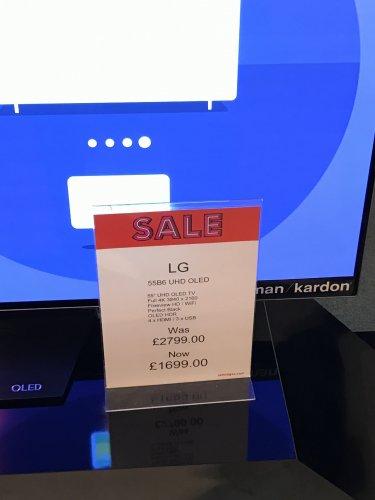 """Selfridges - £1699 LG 55"""" B6 UHD OLED TV + 12 Months Sky Q"""