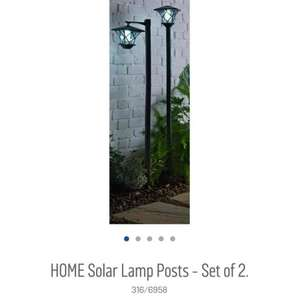 Home Solar Lamp Post set of 2 @ Argos Now £19.99