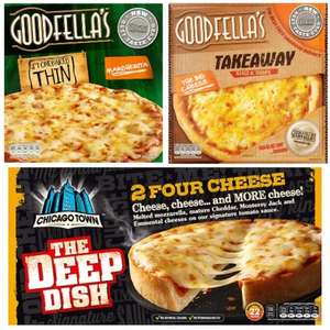 At Tesco Goodfella's Takeaway With Dip £2, Chicago Town Deep Dish £1, Goodfellas Stonebaked £1.25