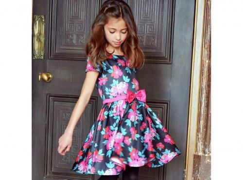 Cherokee Girls Black Floral Dress £7.50 @ Argos