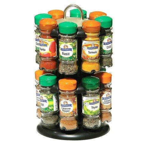 Schwartz 2 Tier Revolving 16 Spice Rack  £24.99 @ Dunelm instore