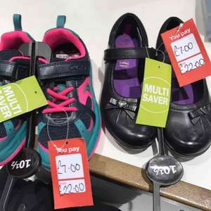 Clarks outlet - 75% off and buy one get one free instore