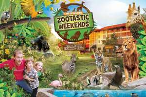 Overnight 'Zootastic' weekend for a family of up to 4 with Chessington Zoo and SEA LIFE entry from £99 at Wowcher