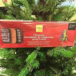 marks and Spencer's Cranberry & clementine Jaffa cakes 2 pack half price now 75p