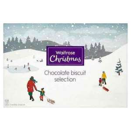 WAITROSE ONLINE 66p Waitrose Christmas Chocolate Biscuit Selection 450g