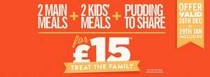 2 pub favourites, 2 kids main meals and an Ultimate Candymania to share for just £15. Hungry horse