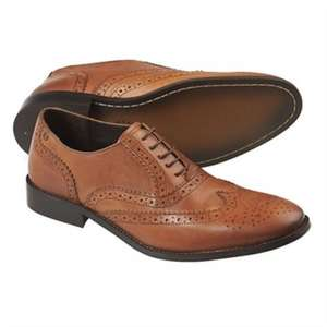 Moss Bros Tan Toe Cap Derby Shoes £20.00 only - Free c&c