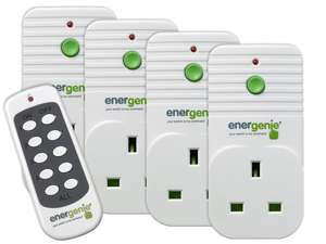 SCREWFIX C&C Energenie 13A 4 Pack Wireless Remote Control Electrical sockets - £19.99