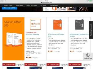 Office 365 University £59.99 for 4 years @ Microsoft