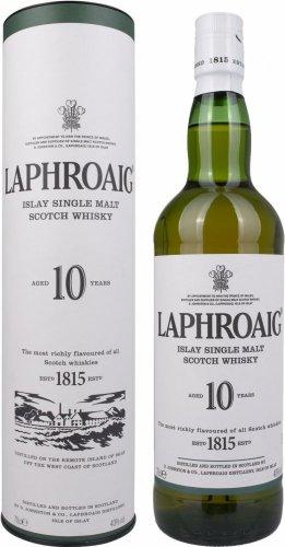 Laphroaig 10 Year Old Islay Single Malt Scotch Whisky 70 cl £22 - Lightning deal on Amazon