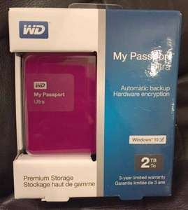 WD My Passport Ultra 2tb Hard Drive for £59.99 IN STORE at Staples