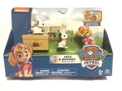 paw patrol Skye and bunnies set Tesco instore - £5