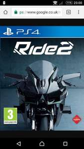 Ride 2 PS4 £15, Ratchet & Clank PS4 £15 @ Asda Chorley