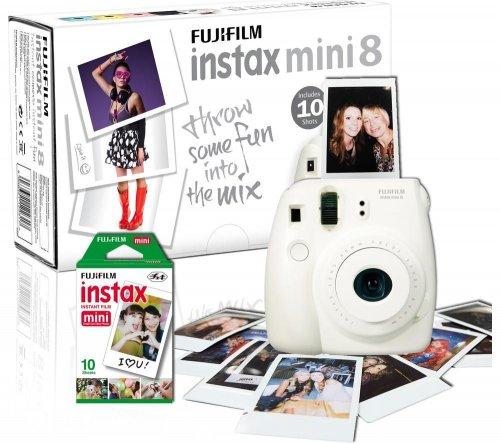 FUJIFILM Instax Mini 8 Instant Camera & 10 Shot Bundle at Currys -