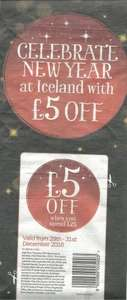 £5 off £25 spend at ICELAND Coupon - Daily Mail Thursday (65p) - IN STORE only