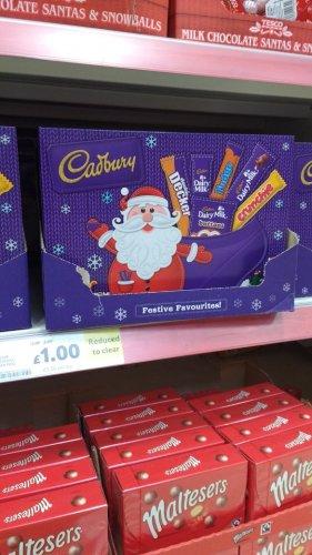 Cadburys medium selection box 180g £1.00 in store tesco swan centre