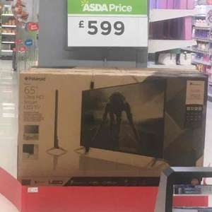 Polaroid 65inch tv ASDA 599 ultra smart hd tv £599 instore @ Asda