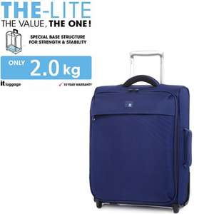 """IT Luggage 19"""" 2 Wheel Lite (Navy) + 10 years warranty was £34.99 now £20.99 with code delivered @ bagsetc"""