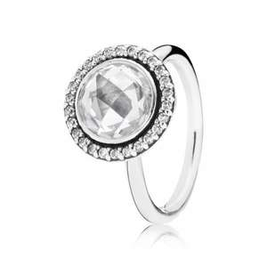 Pandora Silver clear CZ faceted ring was £90 now £45 save 50% with free delivery plus more Pandora sale in post @ The Jewel Hut