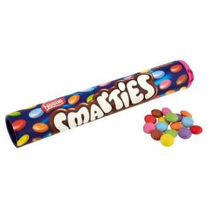 Smarties tubes 150g for 30p at sainsburys