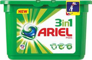 Ariel 3in1 Pods Regular Washing Capsules 19 washes 19 per pack @ Morrisons