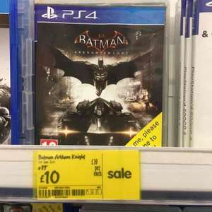 Batman Arkham Knight Ps4 £10 @ Asda - Bolton