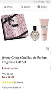 Jimmy Choo giftset £34.80 (was £52) 60ml Eau de Parfum & 100ml body lotion at John Lewis