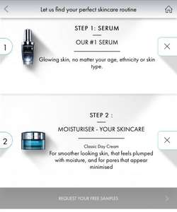 Free Lancôme Samples of Visionnaire Skin care Range x 2. 1 x serum & 1 x moisturiser