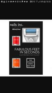 Nails Inc electronic foot file set £9 @ Boots