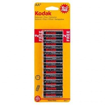 Kodak AA / AAA Twelve Batteries Pack ( Ten + two free )  - Poundland -