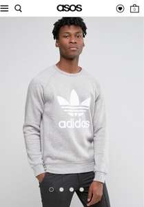 Adidas Trefoil Sweatshirt Mens £33.50 was £45 @Asos.com. Possible 13.2% cashback making it £29.08 Free delivery over £20