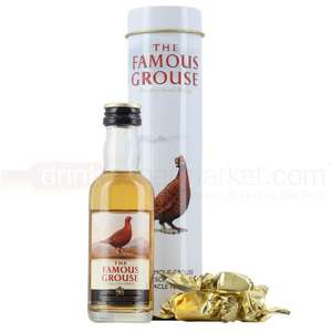 Famous Grouse Whisky Gift Tin with Treacle Toffees 5cl Miniature Gift Tin - Now Reduced To  75p INSTORE @ Asda