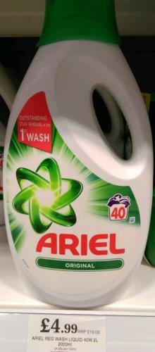 Ariel original laundry liquid 40 washes 2L £4.99 instore at Home Bargains