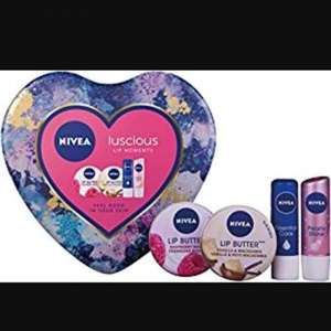 Nivea lips 4 pieces set in heart shape tin - £2 instore @ Wilko