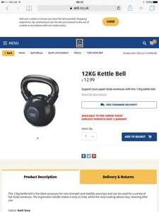 12kg kettlebell delivered £12.99 @ Aldi ONLINE AND INSTORE!!